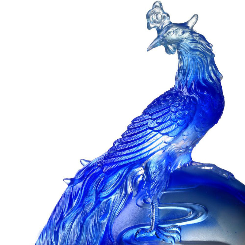Crystal Mythical Creature, Pheonix, Splendor of the Phoenix - LIULI Crystal Art