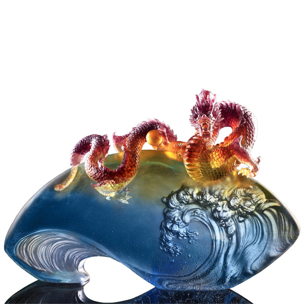 The Space Between Heaven and Earth, Dragon of Domination - LIULI Crystal Art | Collectible Glass Art