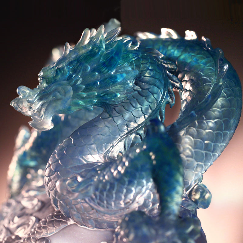 Crystal Mythical Creature, Dragon, Guardian-Azure Dragon of the East, Rise of the Dragon - LIULI Crystal Art - [variant_title].