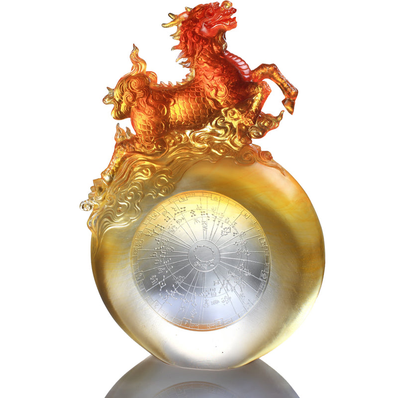 Benevolence of the Qilin (Guardian, Qilin of the Center) - LIULI Crystal Art