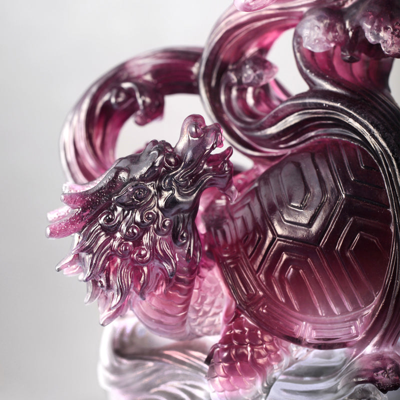 Crystal Mythical Creature, Guardian, Black Tortoise of the North-Serenity of the Xuanwu - LIULI Crystal Art