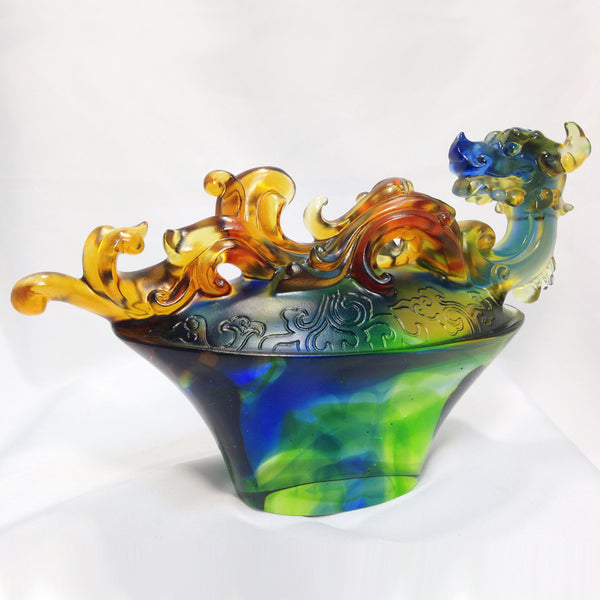 "Dragon of Fortune - ""Ruyi Treasures of the Dragon"" - LIULI Crystal Art 
