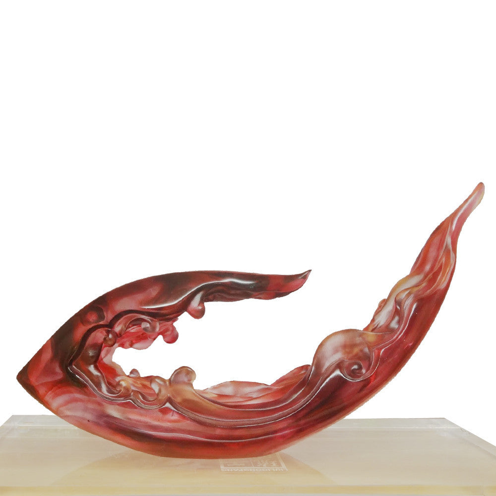 "Crystal Ruyi Figurine (Favorable) - ""Omnipresent Ruyi"" - LIULI Crystal Art 