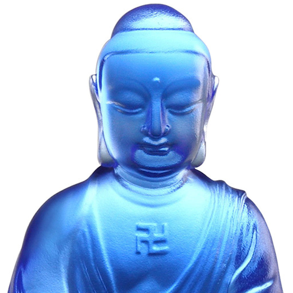 Crystal Art Buddha, Medicine Buddha, The Guardian of Peace - LIULI Crystal Art