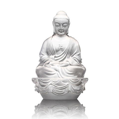 "Buddha Figurine (Accompanied by Peace and Joy) - ""Sakyamuni Buddha"""