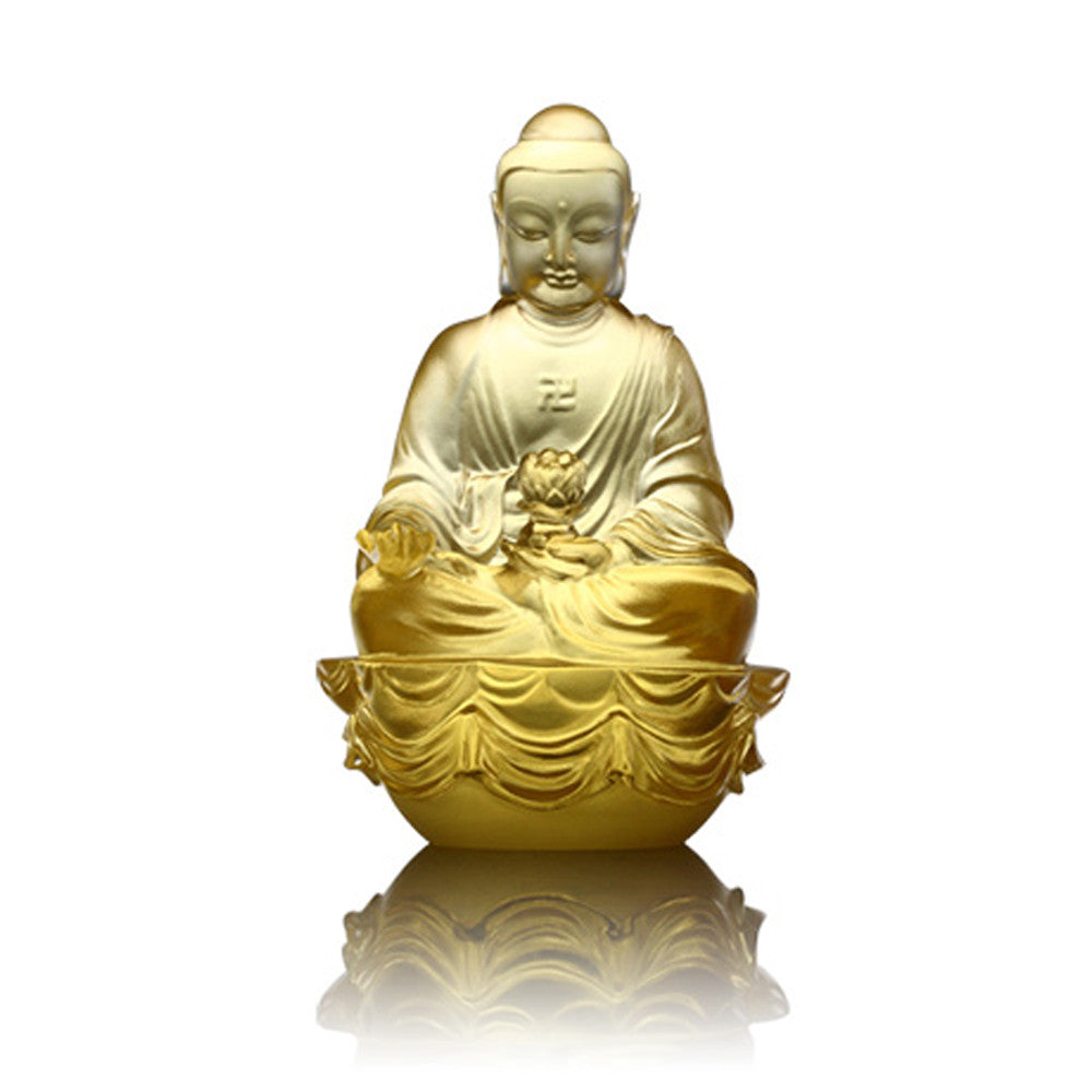 Crystal Buddha, Amitabha Buddha, Guardians of Peace - LIULI Crystal Art