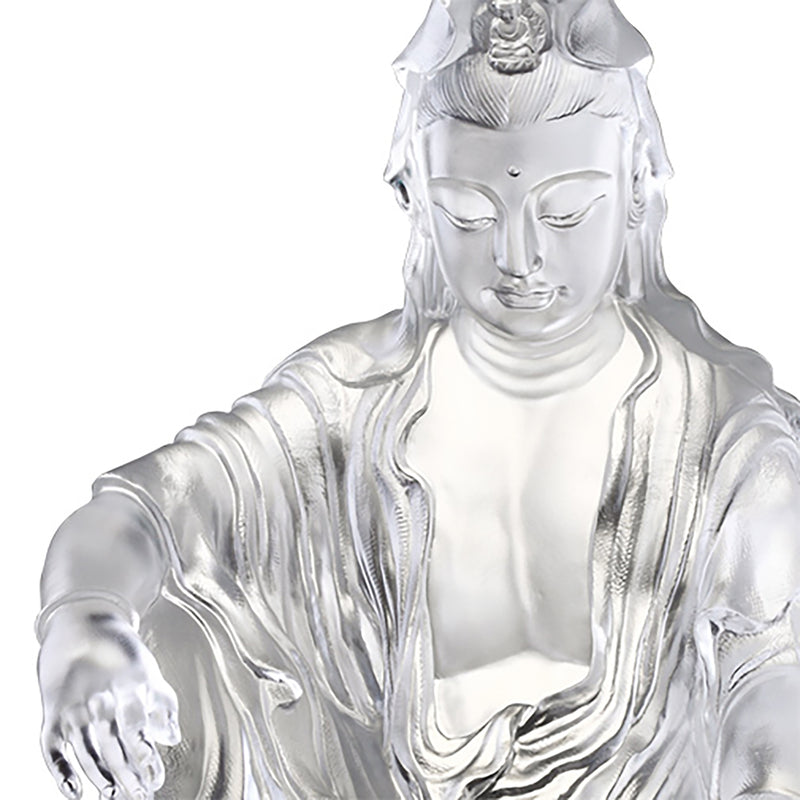 Crystal Buddha, Guanyin, Encompassed by Water and Moon - LIULI Crystal Art