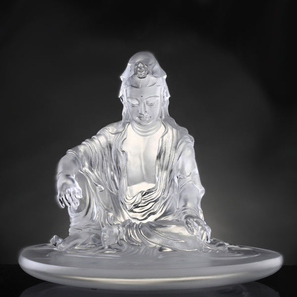 Guan Yin Figurine Quot Encompassed By Water And Moon