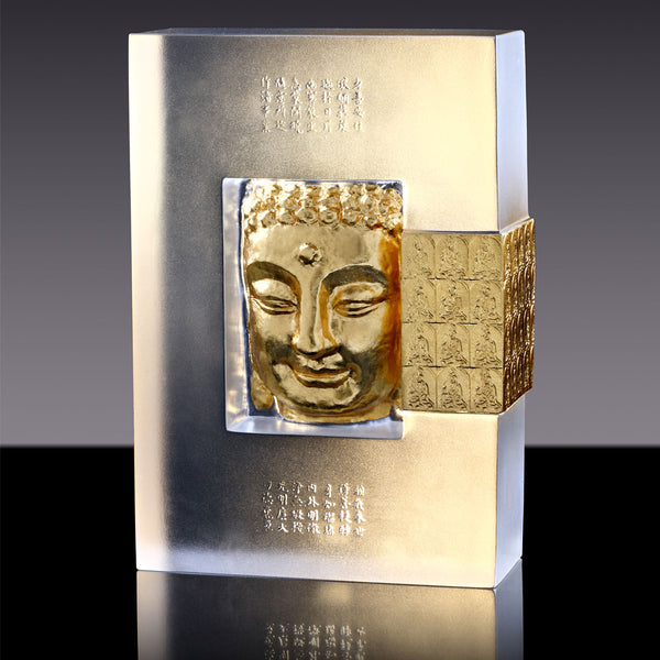 "Second Grand Wish - ""Second Vow of the Medicine Buddha"" - LIULI Crystal Art 