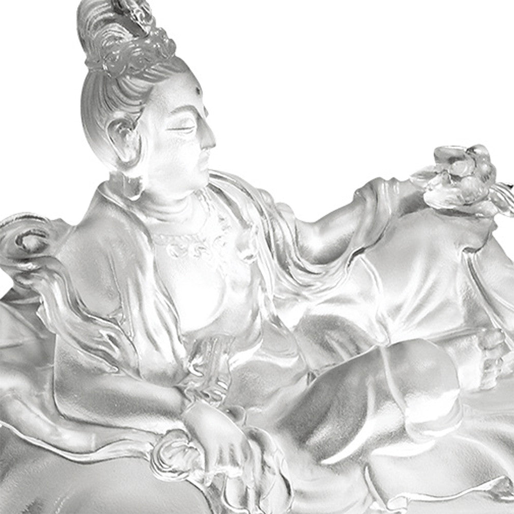 Crystal Buddha, Guanyin, Fulfillment of the Lotus - LIULI Crystal Art