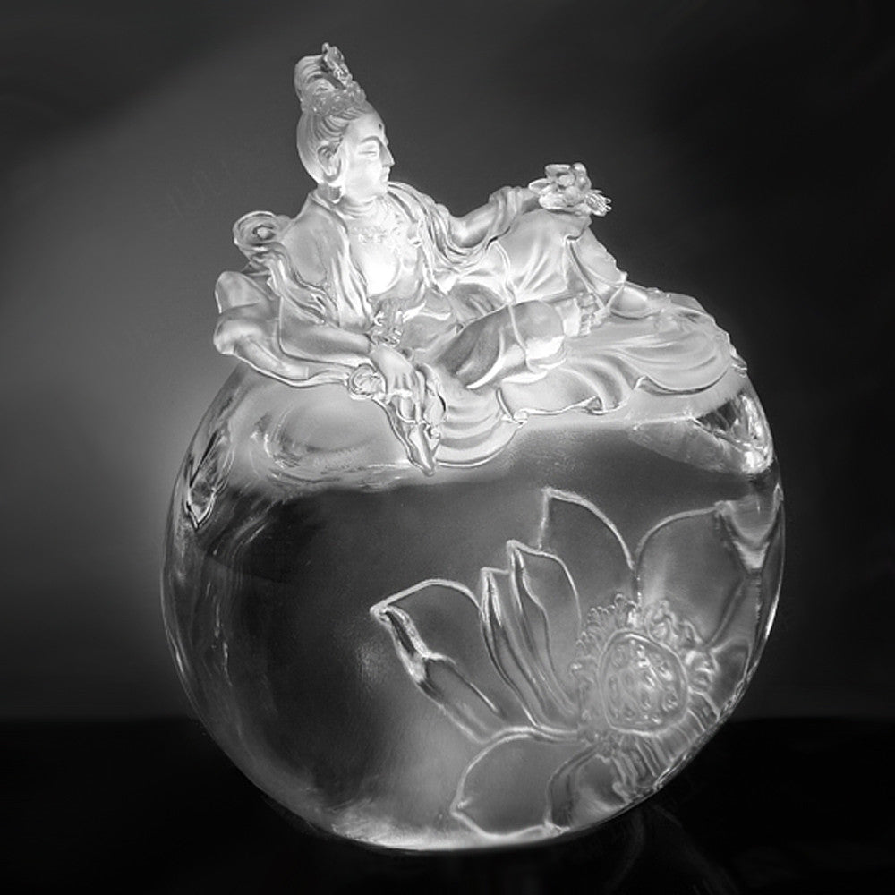 Buddhism (Guan Yin) - Fulfillment of the Lotus - LIULI Crystal Art