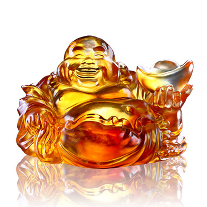 Crystal Buddha, Happy Belly Buddha, Come Joy and Fortune - LIULI Crystal Art