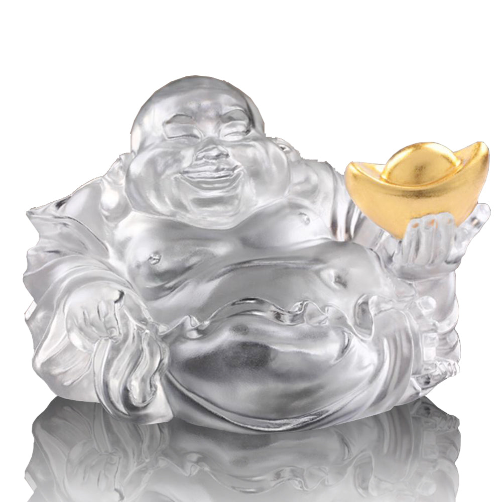 Crystal Buddha, Happy Belly Buddha, Come Joy and Fortune - LIULI Crystal Art - [variant_title].