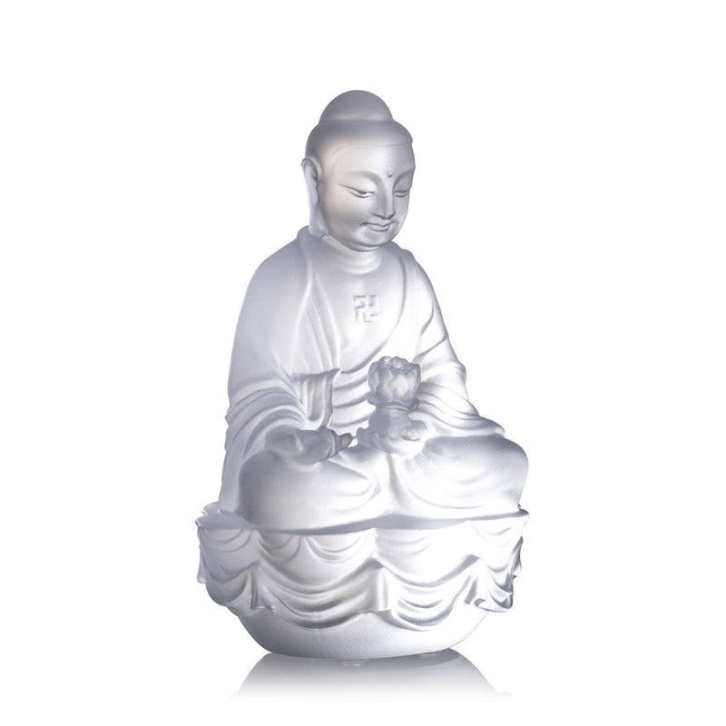 Crystal Buddha, Amitabha, Shakyamuni, Medicine, Guardians of Peace (Set of 3) - LIULI Crystal Art