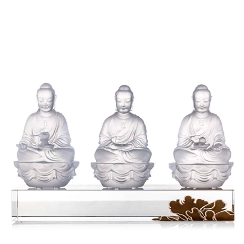 Crystal Buddha, Amitabha, Shakyamuni, Medicine, Guardians of Peace (Set of 3) - LIULI Crystal Art - [variant_title].