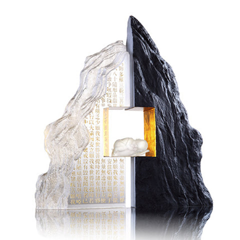 "Handcraft Crystal Mountain (Symbolize Harmony) - ""Between Heaven and Earth"" (Collector's Edition)"