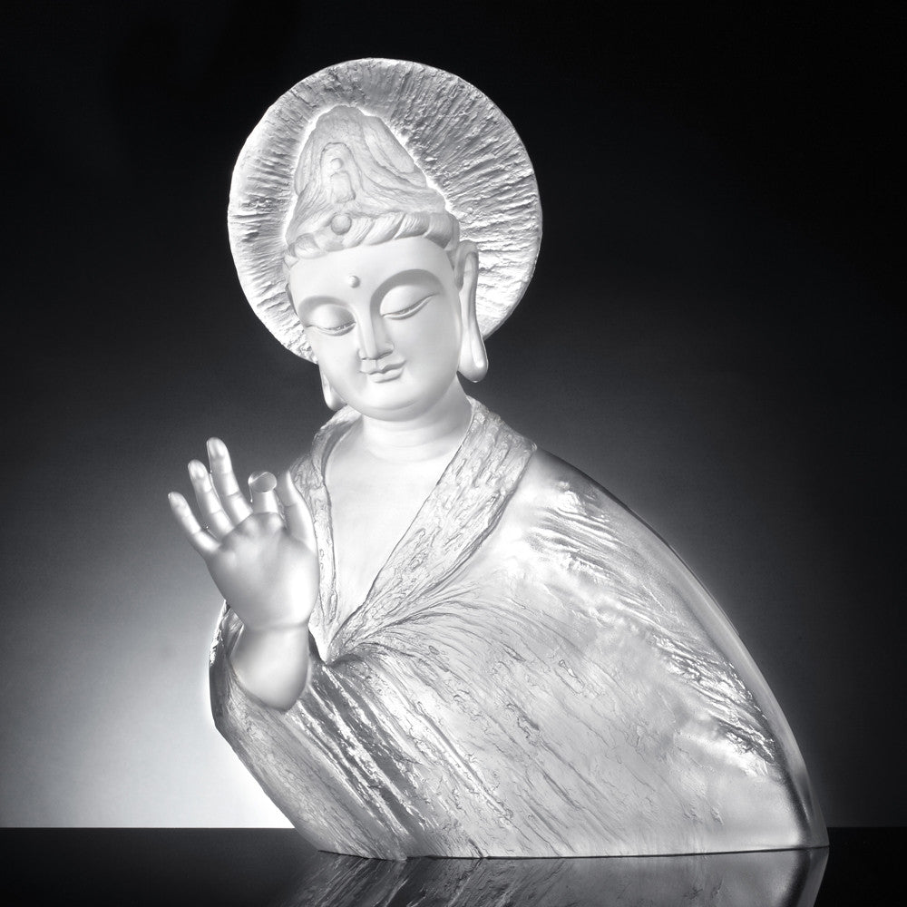 Resolution in Practice (Guanyin) - Only Love, Only Concern - LIULI Crystal Art | Collectible Glass Art