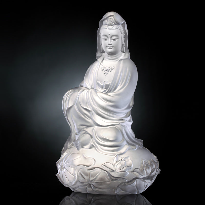 Meditation in Spring Wind (Guanyin) - Mortal Smile - LIULI Crystal Art - [variant_title].