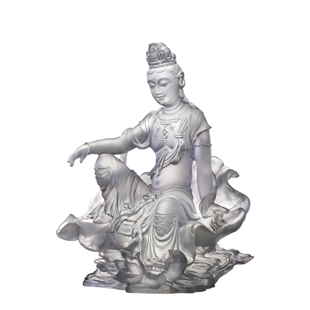 Guanyin of Fulfillment and Purity (Guanyin) - Mortal Smile - LIULI Crystal Art - [variant_title].
