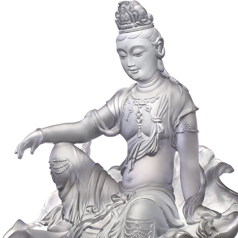 Crystal Buddha, Guanyin, Mortal Smile-Guanyin of Fulfillment and Purity - LIULI Crystal Art