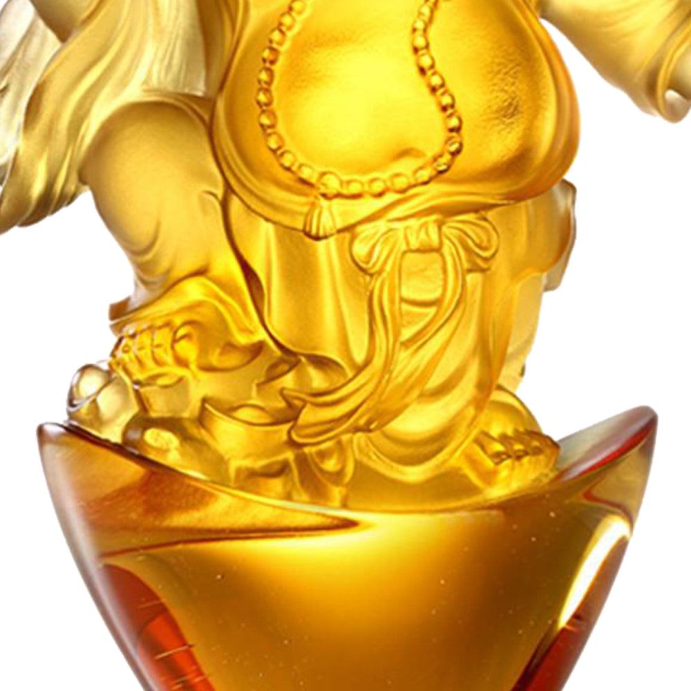 Laughter of the Little Maitreya Buddha (Fortune & Wealth), Happy Belly Buddha - LIULI Crystal Art - [variant_title].