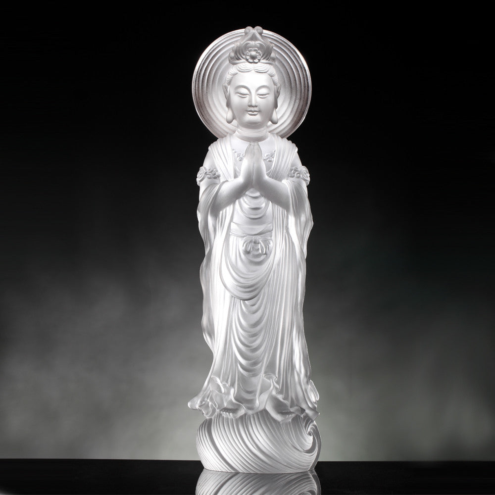 Wish (Guanyin) - Light Exists Because of Love (Special Edition) - LIULI Crystal Art | Collectible Glass Art