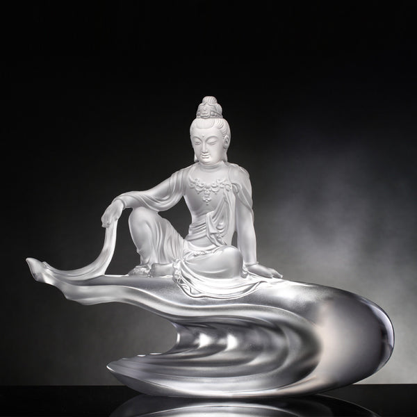 Heart of Guanyin (Guanyin) - Light Exists Because of Love - LIULI Crystal Art | Collectible Glass Art