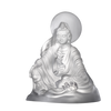 Crystal Buddha, Guanyin, Light Exists Because of Love-State of Enlightenment - LIULI Crystal Art