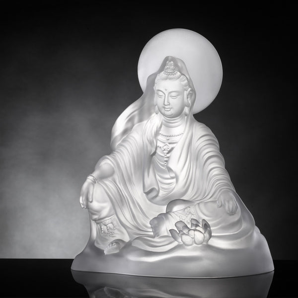 State of Enlightenment (Guanyin) - Light Exists Because of Love - LIULI Crystal Art | Collectible Glass Art
