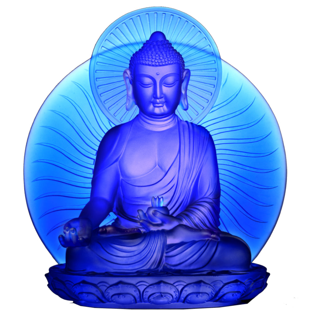 Crystal Buddha, Medicine Buddha, Wishes for Sentient Beings - LIULI Crystal Art