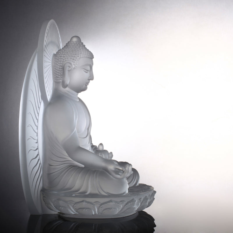 Crystal Buddha, Medicine Buddha, Wishes for Sentient Beings - LIULI Crystal Art - [variant_title].