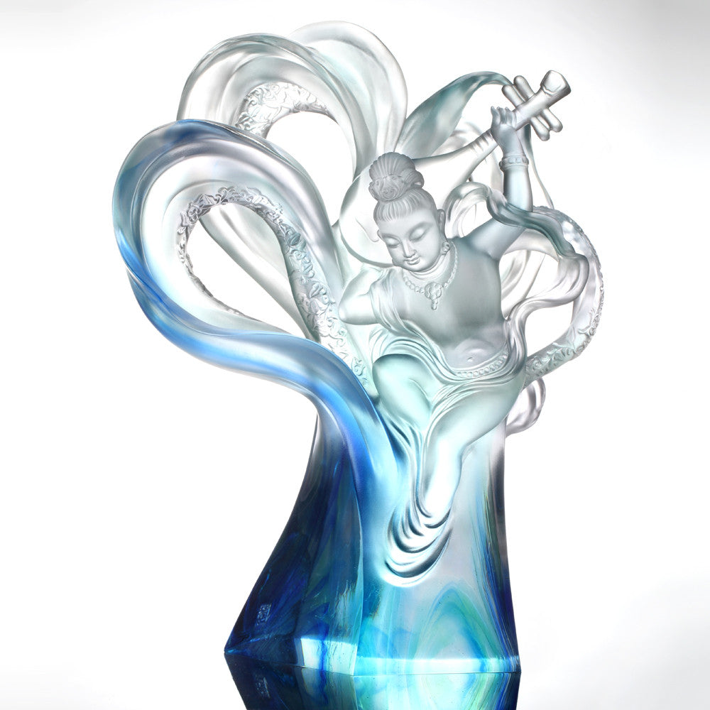 Crystal Angel, Heavenly Dance of Peace - LIULI Crystal Art