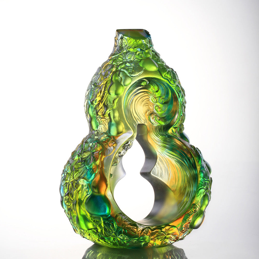 -- DELETE -- United Altruism, Gourd (Hulu) Symbolizes Good Luck & Good Fortune - LIULI Crystal Art - [variant_title].