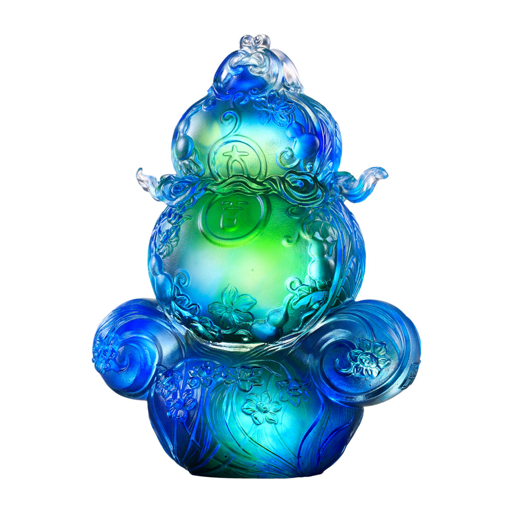 Crystal Gourd or Hulu, Feng Shui, Happiness Lies Ahead - LIULI Crystal Art