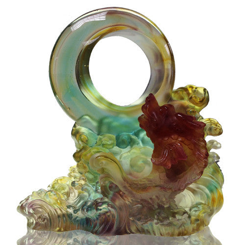 "Mythical Creature (Chiwen, Ambition) - ""Through Heaven and Earth"" - LIULI Crystal Art"