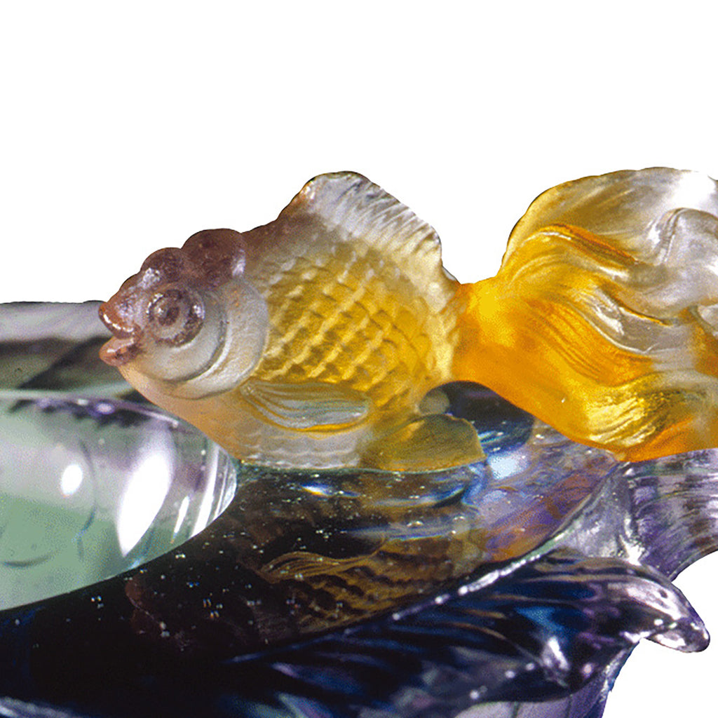 Crystal Bowl, Fish, Flow of Luck