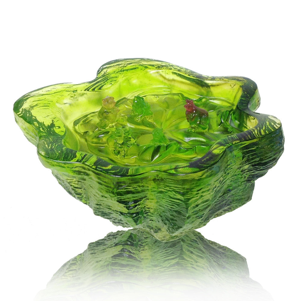 Positive Resonance (Sharing My Song With You) - Frog Figurine - LIULI Crystal Art