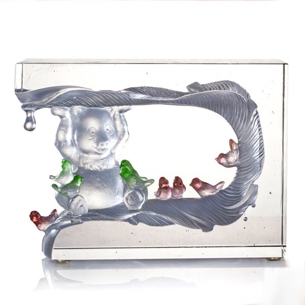 All of Us - Bear and Birds Figurines (Harmony, Forever Friendship) - LIULI Crystal Art