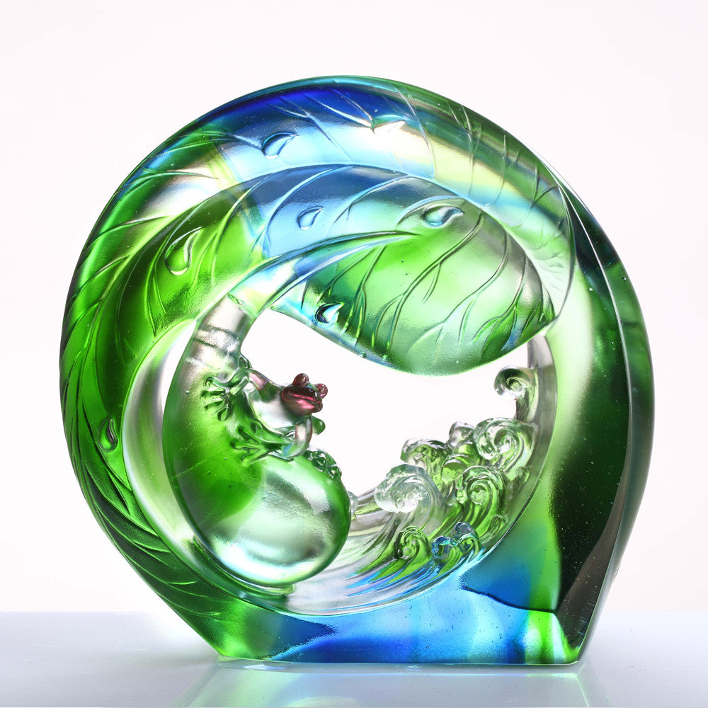 "Frog Figurine (Ambition) - ""Hero in the Waves, You and Me"""