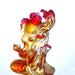 Upstream In Song (When Opportunity Knocks) - Gold Fish Figurine - LIULI Crystal Art | Collectible Glass Art