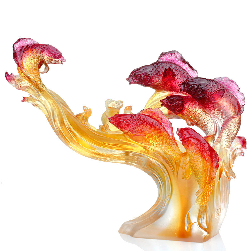 Crystal Fish, Carp Fish, We Are Dragons - LIULI Crystal Art