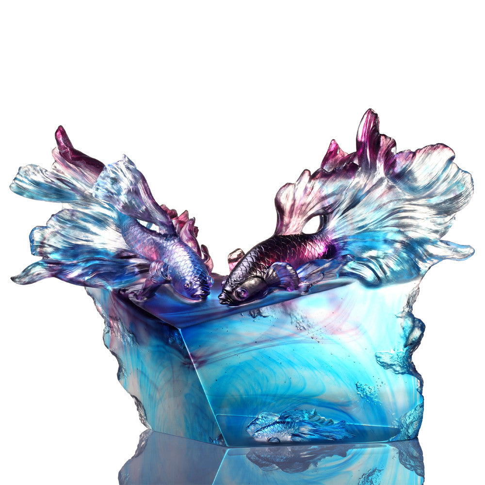 -- DELETE -- Fish Figurine (Eternal Love) - Immortal Passion - LIULI Crystal Art