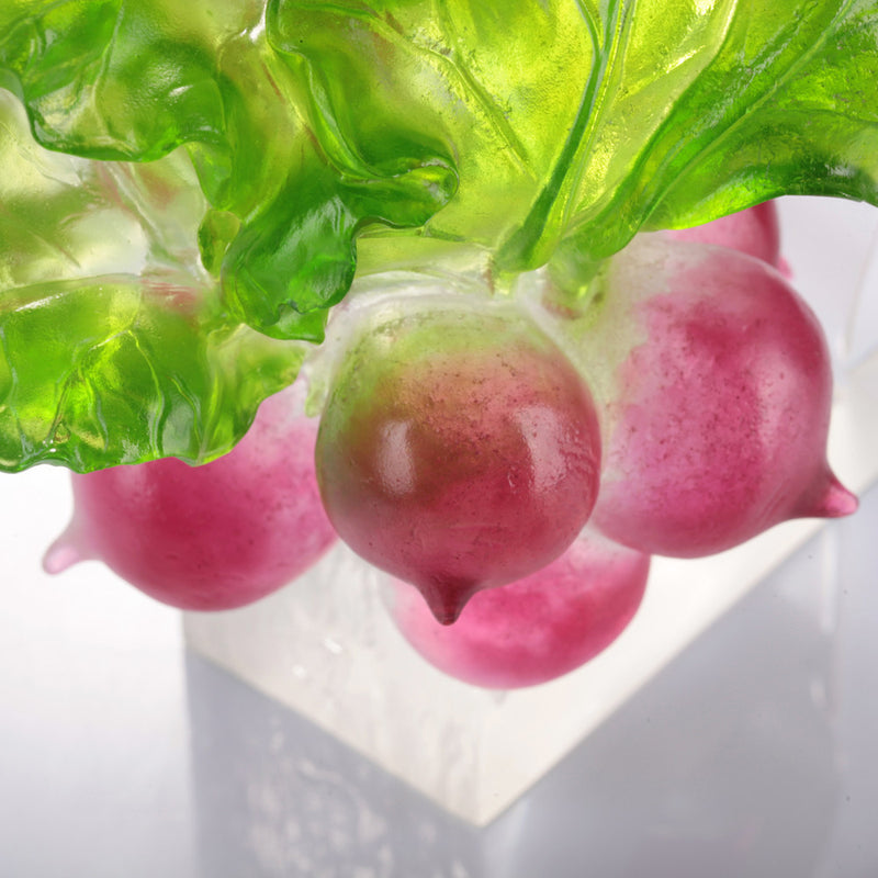 Crystal Radish, The Heart of Our Great Land - LIULI Crystal Art