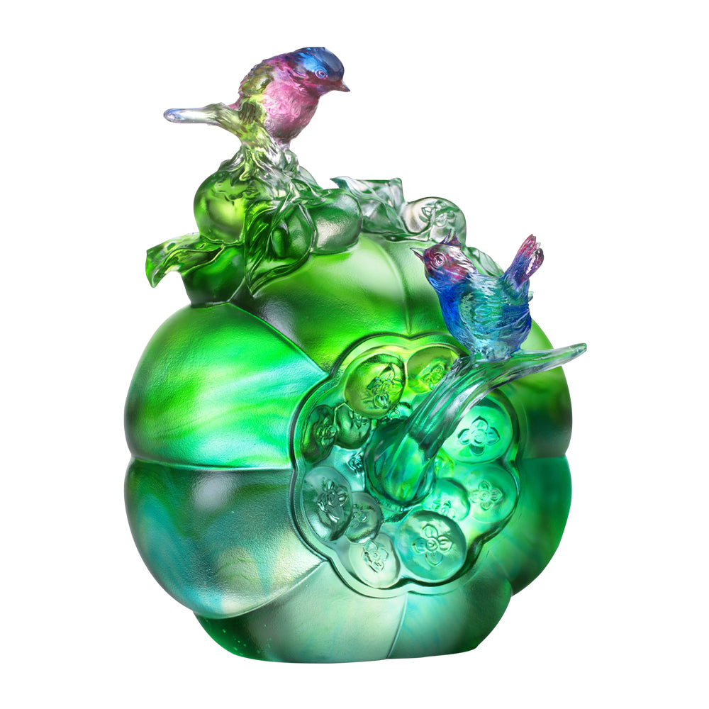 Crystal Bird, Siskin, The Allure of Spring - LIULI Crystal Art