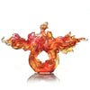 Crystal Fish, Goldfish, Rising New Era, 24k Gold Leaf - LIULI Crystal Art - [variant_title].