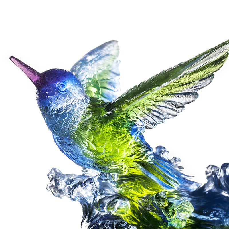 Crystal Animal, Hummingbird, Victory by Daybreak - LIULI Crystal Art