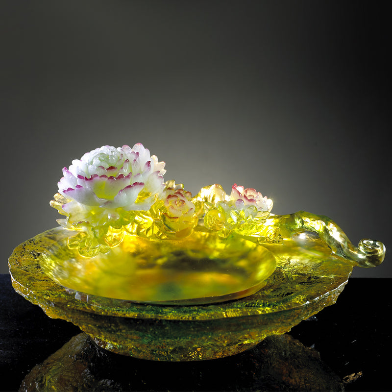 Crystal Flower, Peony, Heavenly One - LIULI Crystal Art
