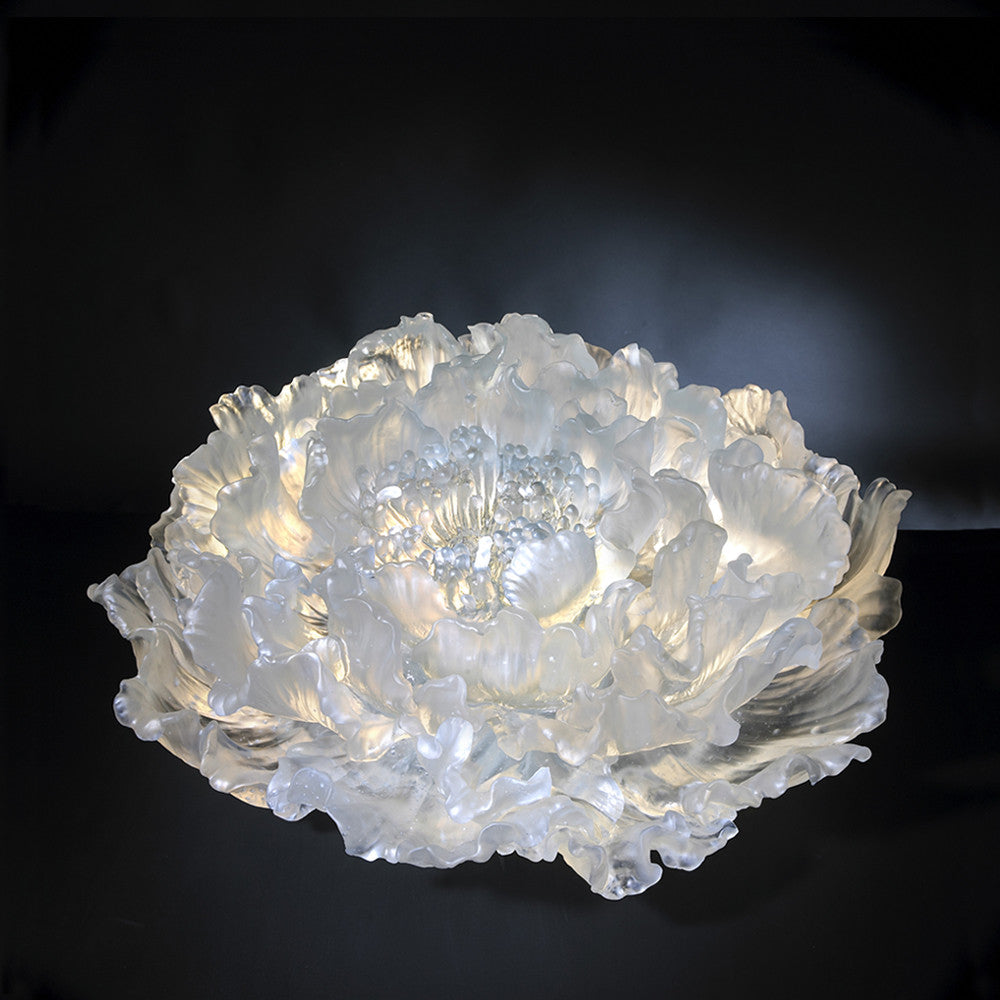 Crystal Flower, Peony, The Proof of Awareness-The Proof of Awareness (Collector's Edition) - LIULI Crystal Art