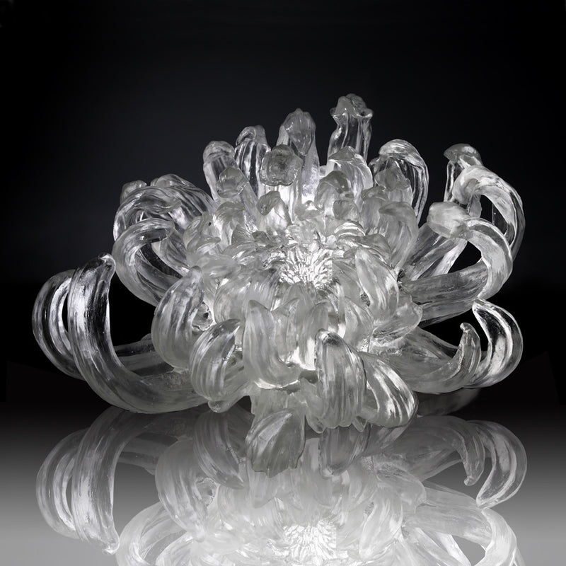 Crystal Flower, Chrysanthemum, The Proof of Awareness-Chrysanthemum Dance (Collector's Edition) - LIULI Crystal Art