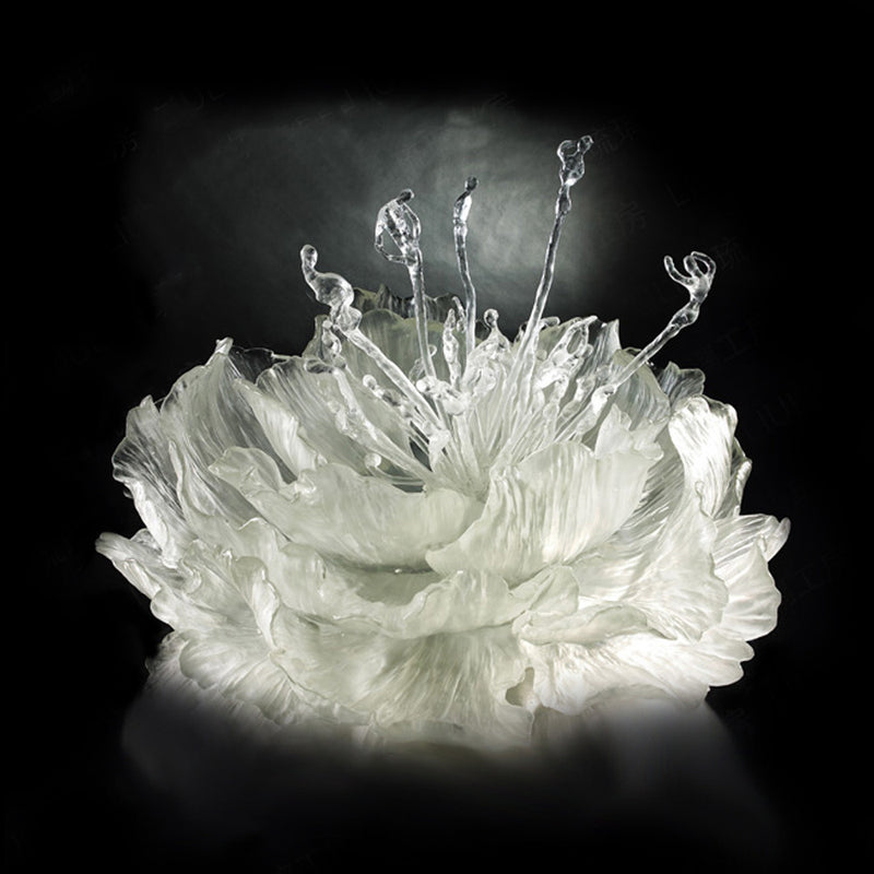 Crystal Flower, Peony, The Proof of Awareness-Springtime Dance (Collector's Edition) - LIULI Crystal Art